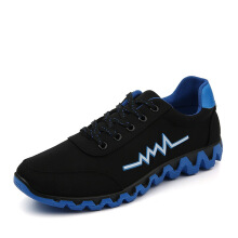 DOUCHUAN Korean version of the shoes low to help mesh men's running shoes
