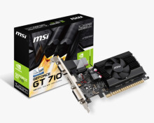 MSI VGA GT710 1GD3H LP (1GB , DDR3 , Heatsink + Low Profile)