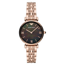 Emporio Armani Classic AR11145 Black Mother of Pearl Dial Rose Gold Stainless Steel Strap [AR11145]