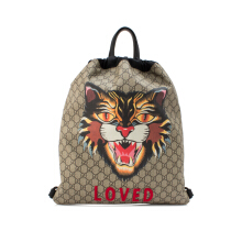 Pre-Owned Gucci Soft GG Supreme Drawstring Backpack
