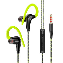 Jantens Ear-hook sports headphones subwoofer sweat-proof stereo headphones sports headphones for smart phones Green