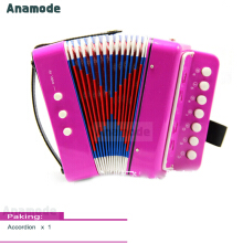 Anamode 7 Keys+3 Buttons Miniature Accordion Children Kids Button Toy Instrument Gifts -