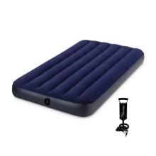 INTEX Twin Size Dura-Beam Airbed Blue 64757 with Free Hand Pump