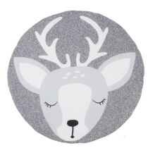 ANAK Baby Thick Round Soft Play Mat Infant Cotton Cushion Kids Seat Pad Floor Rug Deer Grey