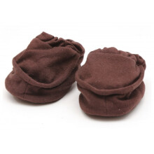 Cribcot Booties Plain - Coffee Brown Size 0-3M