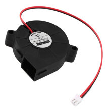 [kingstore]Durable DC 12V 50mm Cooling Fan Blow Radial Hotend / Extruder For 3D Printer Black Black