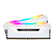 CORSAIR DDR4-2666 16GB Vengeance RGB PRO For Desktop PC (2X8GB) White CMW16GX4M2A2666C16W
