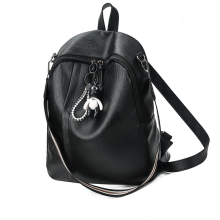 MWS WOMAN BACKPACK LEATHER ORIGINAL 2255 Black