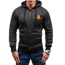 Farfi Winter Men Long Sleeve Slim Hoodie Hooded Top Sweatshirt Outwear Gift