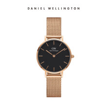 Daniel Wellington Petite Mesh Watch Melrose Black Black 28mm
