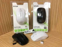 Gado Gado IT - Deluxe M136/M 136/M-136 Wireless Optical Mouse Original &Garansi Resmi - Hitam