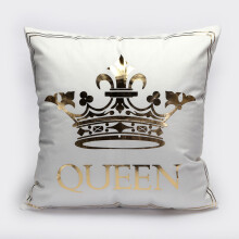Jantens Bronzing Cushion Cover Gold Print Pillow Case Decorative Pillow Case Sofa Seat Car Pillow Case