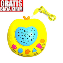 Kaptenstore P- 17000490 Mainan Edukasi Anak APPLE QURAN Apple Learning Quran 6 tombol Yellow