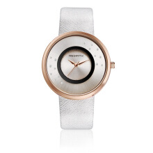 REBIRTH Fashion Alloy Pin Buckle Leather Belt Women's Watch