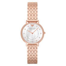 Emporio Armani Classic AR11006 White Mother of Pearl Dial Rose Gold Stainless Steel Strap [AR11006]