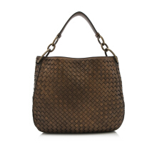 Pre-Owned Bottega Veneta Intrecciato Nappa Small Loop Bag