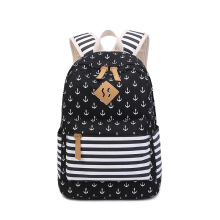 Keness Fashion leisure backpack female navy student canvas bag small fresh backpack