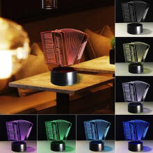 Farfi Night Light 3D Touch Control Multi Color Changing LED Desk Bedside Lamp as the pictures