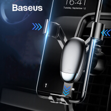 Baseus Universal Car Phone Holder Gravity GPS Air Vent Mount Holder for iPhone Samsung Car Air Outlet Mobile Phone Holder Stand