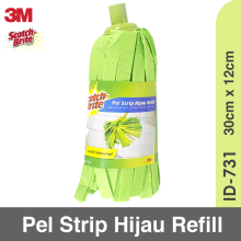 3M Scotch-Brite Pel Strip Hijau Refill ID-731 Green