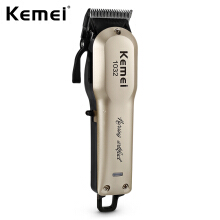 Kemei KM - 1032 Adjustable Cordless Powerful Motor Hair Clipper with 4 Guide Comb0.61EU Plug0.61Gold