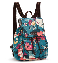 Sakroots Mini Flap Backpack Teal Flower Power