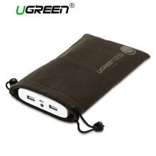 UGREEN Phone Pouch Power Bank Bag for hp Accessories Powerbank Cables Portable Waterproof Drawstring Protection Bag Black