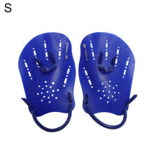 Farfi 1 Pair Swimming Gloves Hand Webbed Finger Fins Training Paddle Palm Gloves Blue S