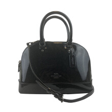 Coach MINI SIERRA Women's Shiny Black Crossbody Bag F29134QBM2