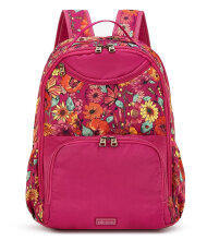 Sakroots Kota Nylon Madison Backpack Raspberry In Bloom Multicolor