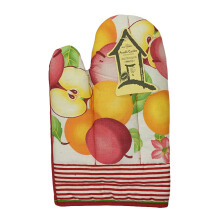 ARNOLD CARDEN Oven Mitts Sweet Apple Right Side - Red 17x25cm