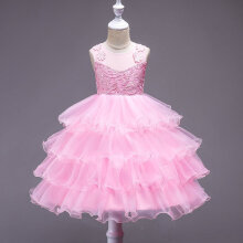 Sleeveless Baby Girls Princess Lace Dress Princess Baby Girl Party Dress 130CM