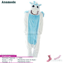 Anamode Flannel Lingerie Cartoon Animal Unicorn Siamese Pajamas Winter Home Clothes Couples -