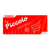 ZEBRA Semi Jell Pen Piccolo 0.7 Red (1 Pack = 12 Pcs)
