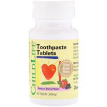 Child Life Toothpaste Tablets Natural Berry Flavour 60 Tablets