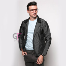 GIOFLO Blazer Pria Casual Slim Fit - Grey / BLZ 764+A