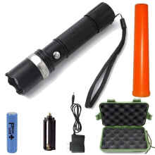 Paket Senter led Cree Q5 Police Swat Flashlight Charger Box Tactical