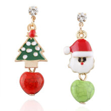 [COZIME] Women Santa Claus Snowman lovely Tree Bell Christmas Jewelry  Earring Multi-Colour