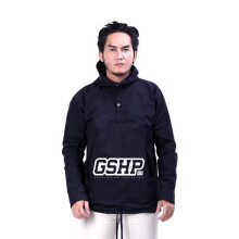 G-SHOP - MEN SWEATER JAKET HOODIES DISTRO PRIA - JAK 1428 - HITAM SIZE- M