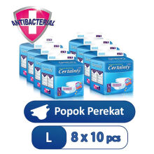CERTAINTY Tape Regular Pack Size L Carton 8 Bag x 10 Pcs