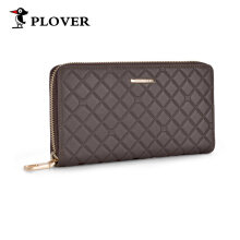 [COZIME] PLOVER Men Business Long Wallet Cow Leather Money Credit Cards Clutch Bag Brown