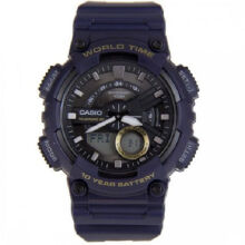 Casio AEQ-110W-2A Sports double display waterproof electronic watch-Black