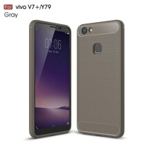 RockWolf Vivo V7 PLUS/Y79 case Luxury brushed carbon fiber TPU soft shell