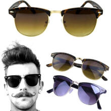 Farfi Men Framed Glasses Plain Glass Spectacles Sunglasses Outdoor Eyewear