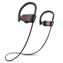 Jantens Waterproof Wireless Bluetooth Headset Sports Bass Bluetooth Headset with Microphone Mobile Phone xiaomi Black