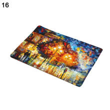 Farfi Oil Painting Style Anti-slip Doormat Floor Mat Home Decor
