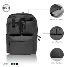 The X Woof - Urban Backpack 'Spack-F' Black