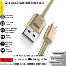 GOLF SPACE GC37 CABLE DATA MICRO FAST CHARGING 2.4A