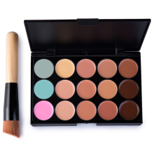 15 Colors Contour Face Cream Makeup Concealer Palette with Makeup Brush Multicolor