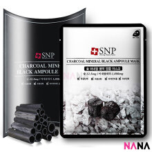 SNP Charcoal Mineral Black Ampoule Mask (10 Sheets)